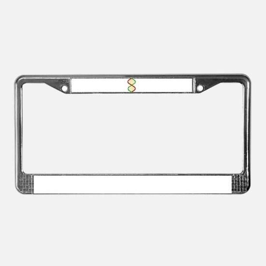 Twin DNA Strands License Plate Frame