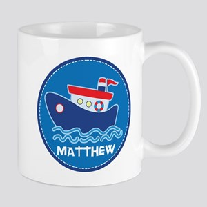 Tug Boat Personalized Boating Cute Mugs