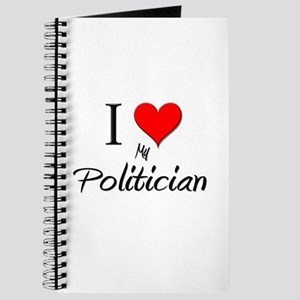 I Love My Politician Journal