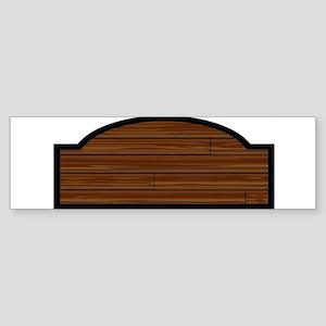 Wooden Store Sign Bumper Sticker