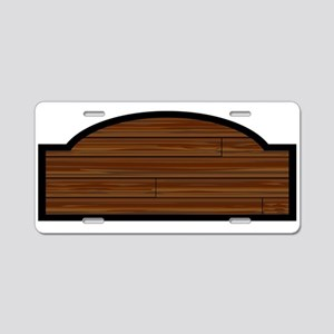 Wooden Store Sign Aluminum License Plate