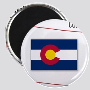 Colorado State Map and Flag Magnets