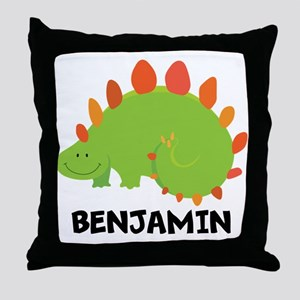 Dinosaur Personalized Cute Animals Throw Pillow