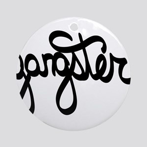 Gangster Round Ornament
