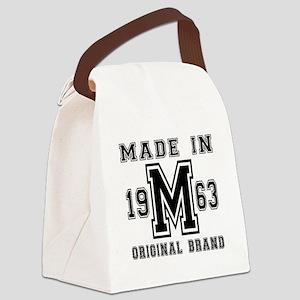 Made In 1963 Original Brand Birth Canvas Lunch Bag