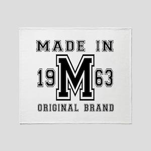 Made In 1963 Original Brand Birthday Throw Blanket