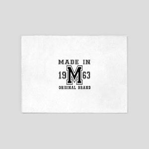 Made In 1963 Original Brand Birthda 5'x7'Area Rug