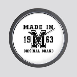 Made In 1963 Original Brand Birthday De Wall Clock