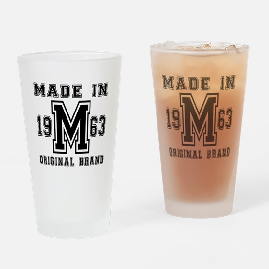 Made In 1963 Original Brand Birthda Drinking Glass