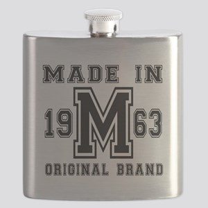 Made In 1963 Original Brand Birthday Designs Flask