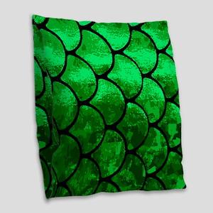 fish scales Burlap Throw Pillow
