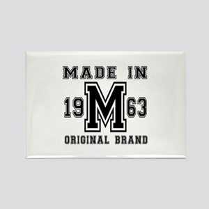 Made In 1963 Original Brand Birth Rectangle Magnet