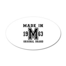 Made In 1963 Original Brand Wall Decal