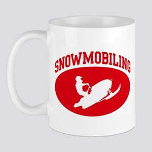Snowmobiling (red circle) Mug