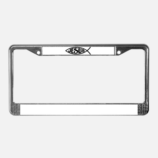 Jesus Fish Jesus License Plate Frame
