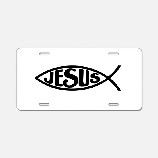 Jesus Fish Jesus Aluminum License Plate