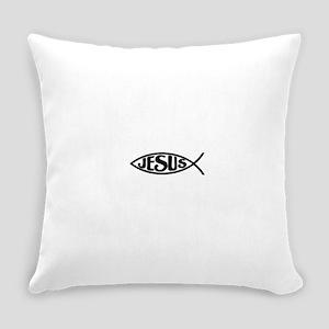 Jesus Fish Jesus Everyday Pillow