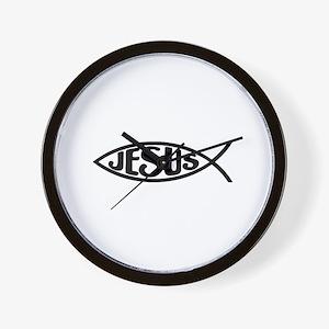 Jesus Fish Jesus Wall Clock