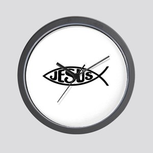 Jesus Fish Jesus Wall Clock