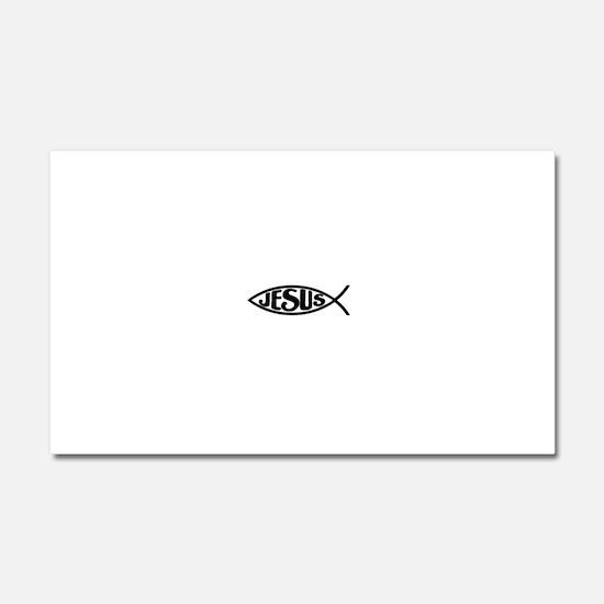 Jesus Fish Jesus Car Magnet 20 x 12