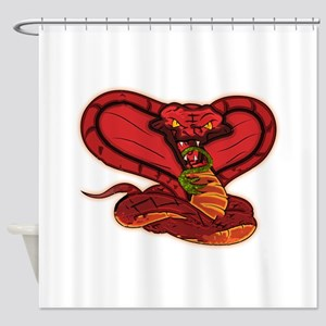 Evil Red Cobra Shower Curtain