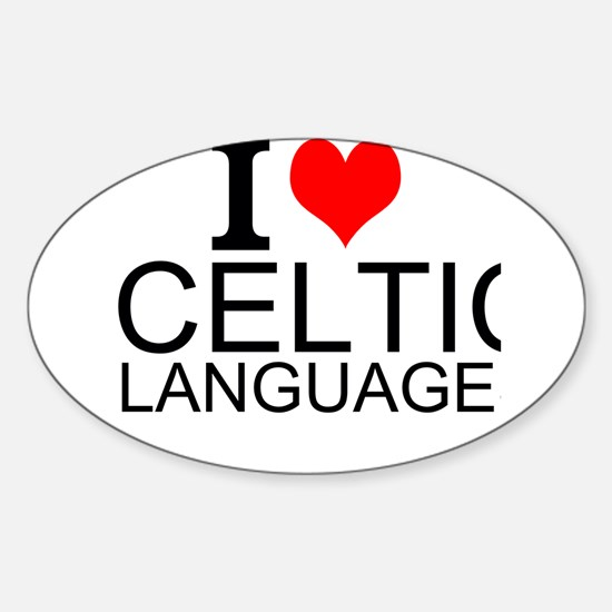 I Love Celtic Languages Decal