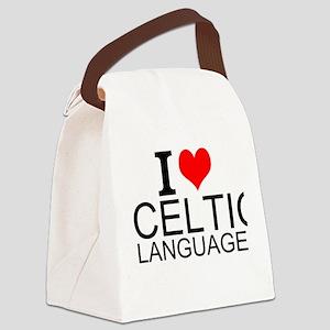 I Love Celtic Languages Canvas Lunch Bag