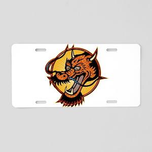 Fierce Red Dragon Aluminum License Plate