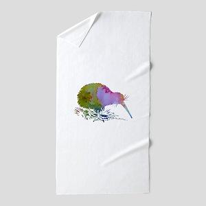 Kiwi Bird Beach Towel