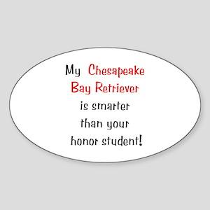 My Chesapeake Bay Retriever is smarter... Sticker