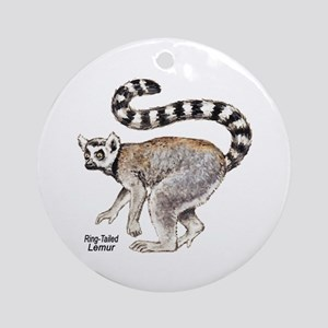 Ring-Tailed Lemur Keepsake (Round)