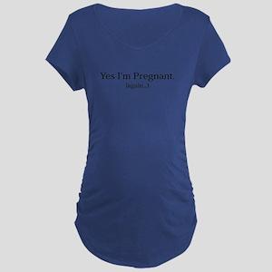 Yes Im Pregnant Again Funny Maternity Shir Mat