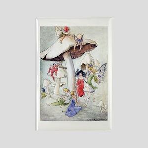 Florence Harrison - Fairies Rectangle Magnet