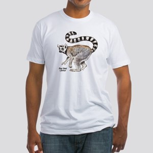 Ring-Tailed Lemur (Front) Fitted T-Shirt