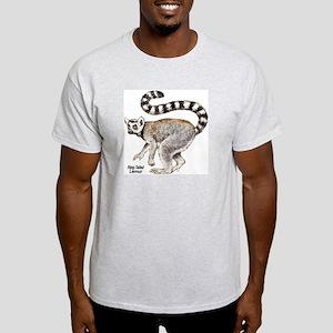 Ring-Tailed Lemur (Front) Ash Grey T-Shirt