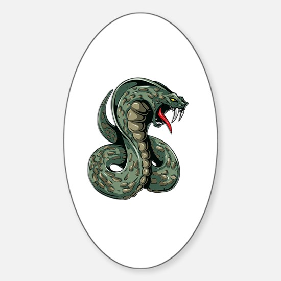 Cute Vipers Sticker (Oval)