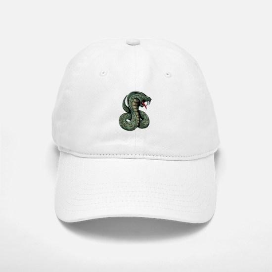 Striking Green Cobra Baseball Baseball Cap