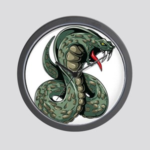 Striking Green Cobra Wall Clock