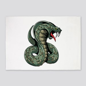 Striking Green Cobra 5'x7'Area Rug
