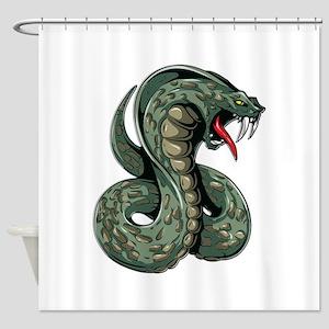 Striking Green Cobra Shower Curtain