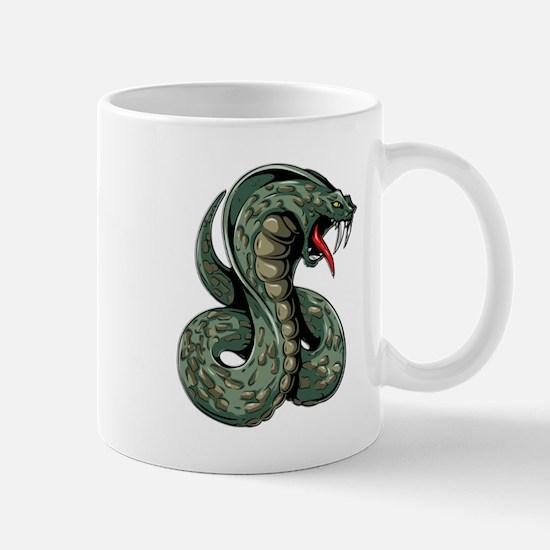 Striking Green Cobra Mugs