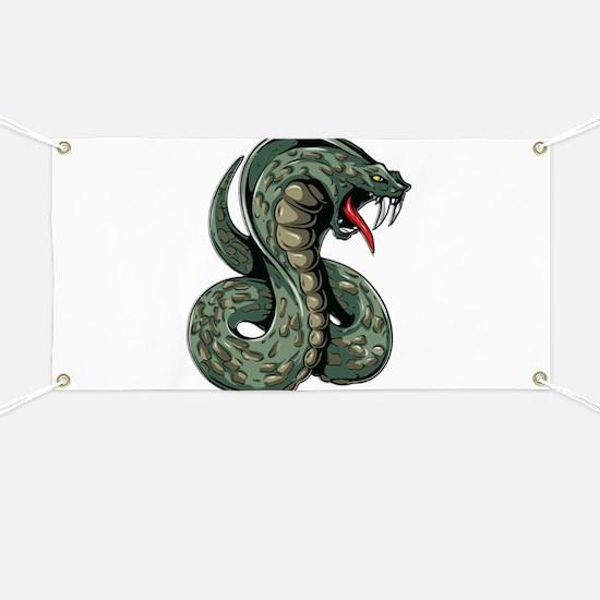 Striking Green Cobra Banner