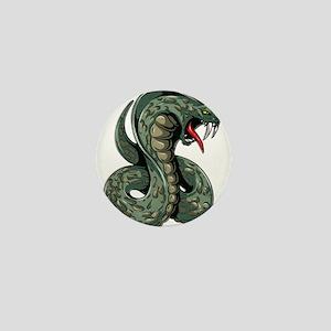Striking Green Cobra Mini Button