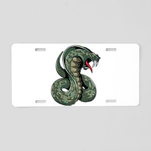 Striking Green Cobra Aluminum License Plate