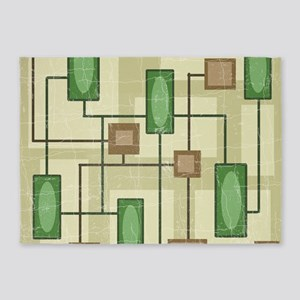 20th Century Abstract Art 5'x7'Area Rug