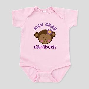 NICU Graduate Baby Girl monkey Body Suit