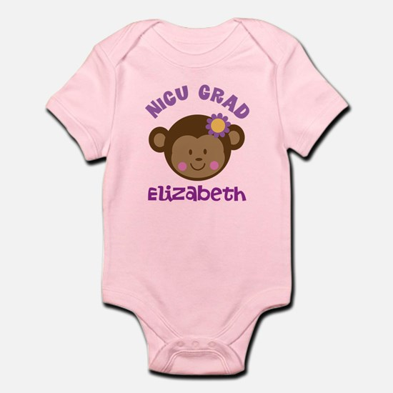 NICU Graduate Baby Girl monkey Body Suit