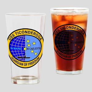 USS Ticonderoga CV-14 Drinking Glass