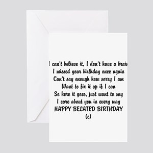 Greating Card Belated Birthday Greeting Cards