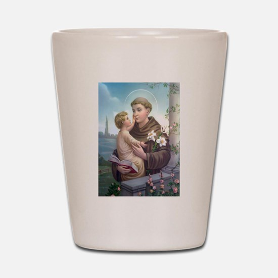 St. Anthony of Padua Shot Glass